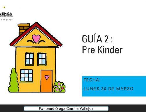 Guía 2 Pre Kinder: